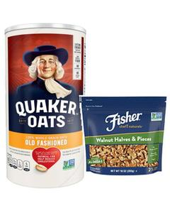 Quaker Oats and Fisher Nuts
