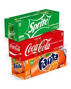 Multiple Coca-Cola sparkling brands image