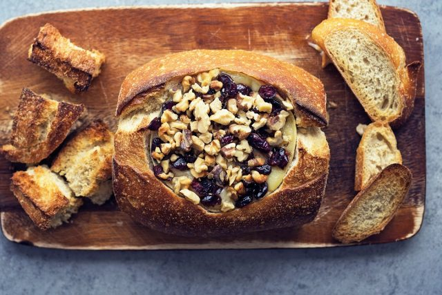 How to Make a Cranberry Baked Brie Bread Bowl (Video)