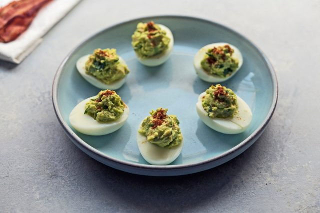 How to Make Avocado Deviled Eggs (Video)