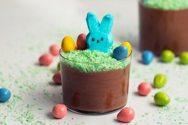 How to Make Peeps Chocolate Mousse Cups (Video)