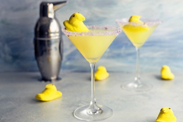 How to Make a Peeps Lemon Drop Martini (Video)