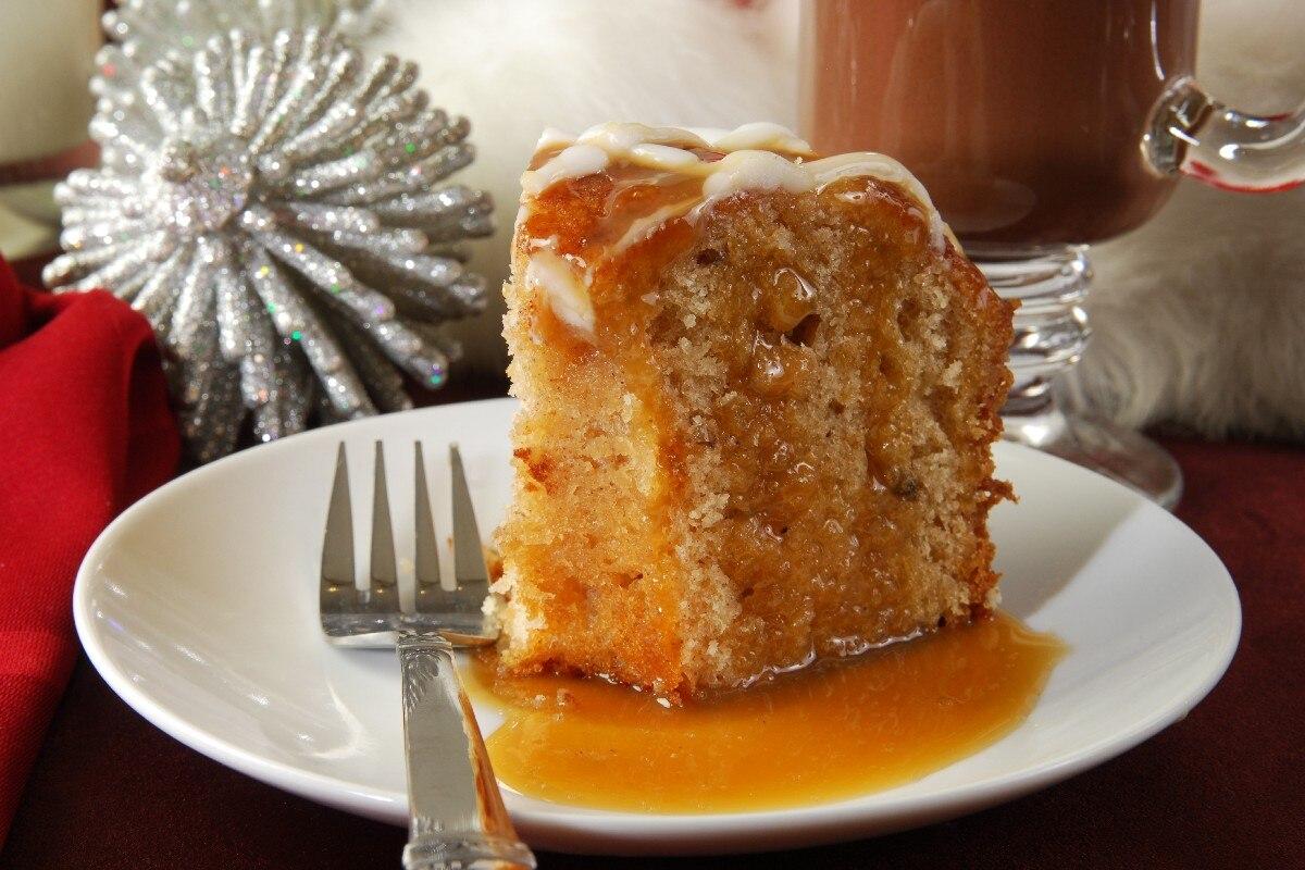 13. Apple Harvest Pound Cake with Caramel Glaze
