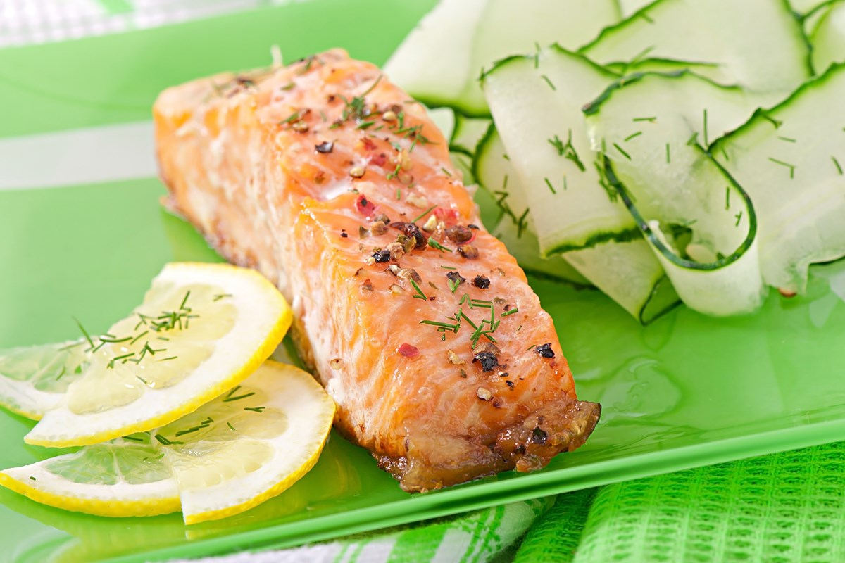stuffed baked salmon with herb jus baked salmon recipes baked salmon ...