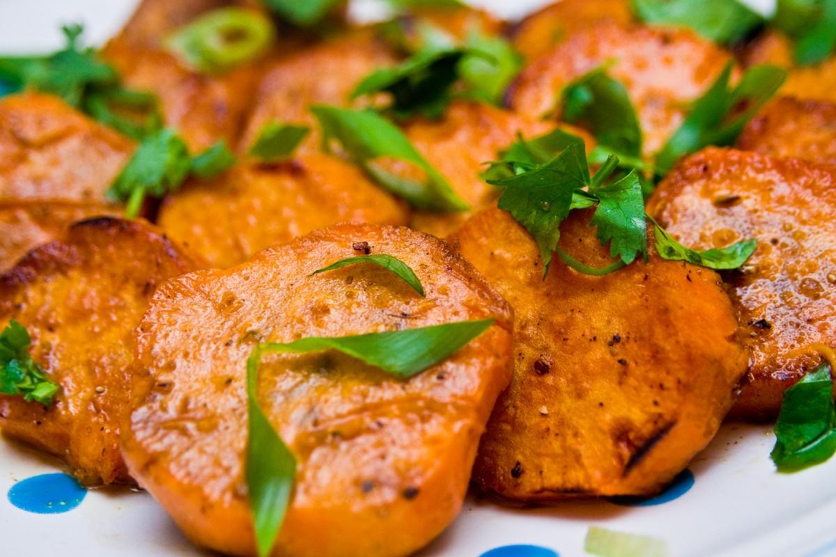 13. Grilled Sweet Potatoes with Lime and Cilantro
