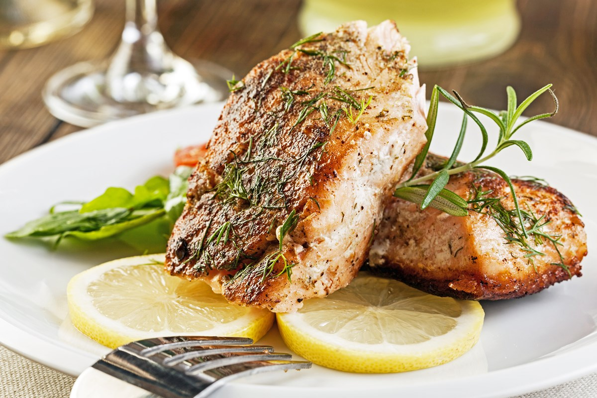 Melt in Your Mouth Broiled Salmon with Butter and Herbs - KitchMe
