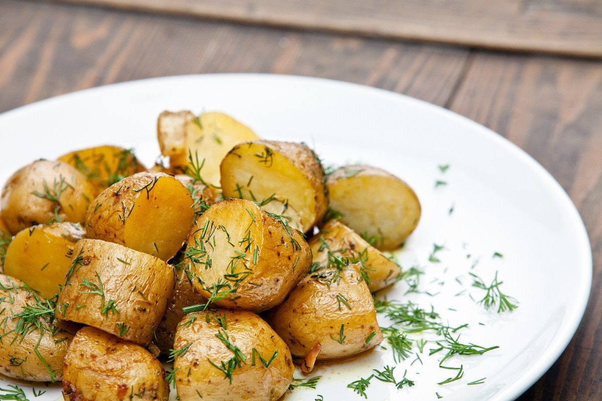 New Potatoes With Herbes De Provence, Lemon and Coarse ...