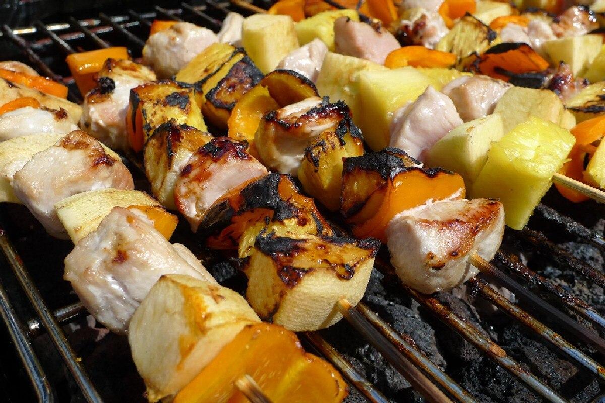 Pork and Pineapple Kebabs - KitchMe