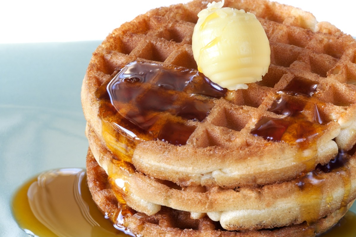 Pumpkin Waffles with Apple Cider Syrup - KitchMe