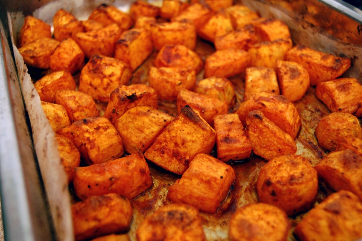 10. Roasted Sweet Potatoes with Honey and Cinnamon