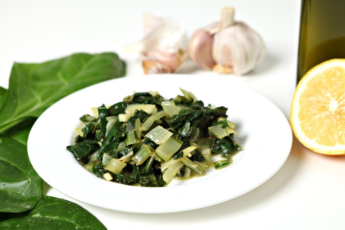 Sauteed Chard with Lemon and Hot Pepper - KitchMe