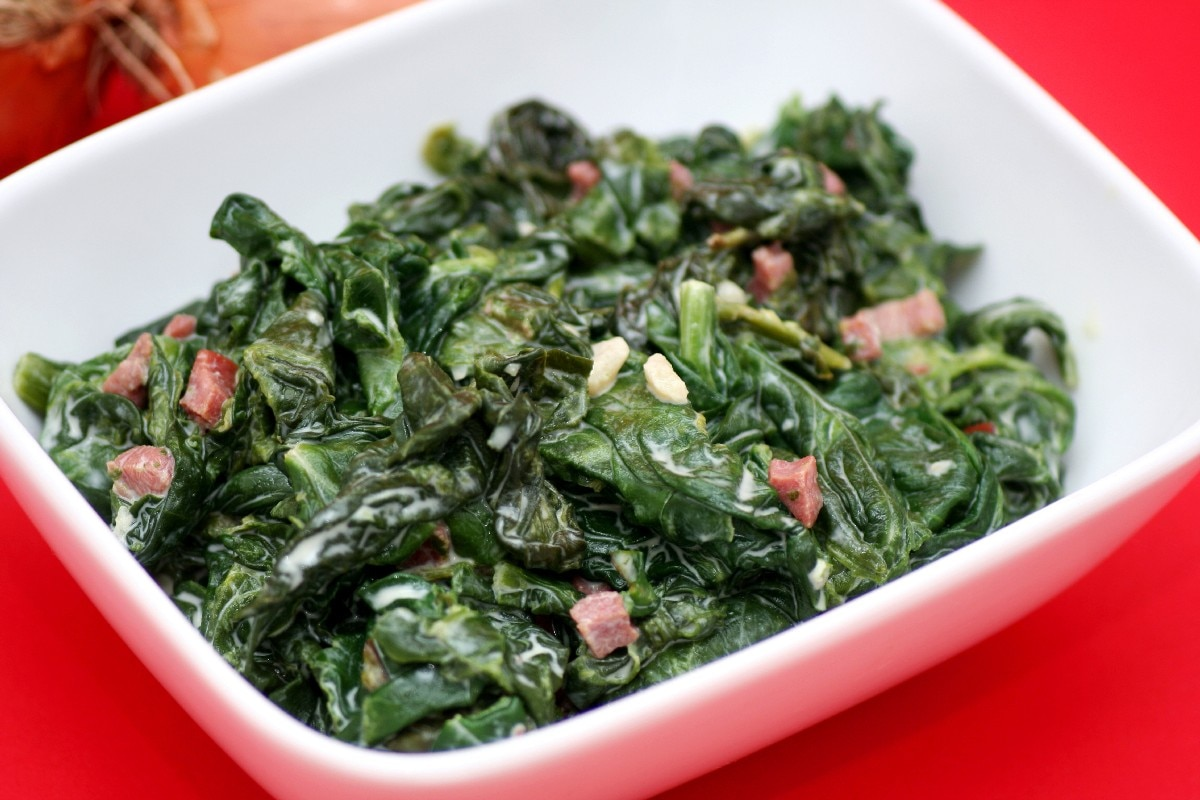 Sauteed Swiss Chard with Bacon - KitchMe
