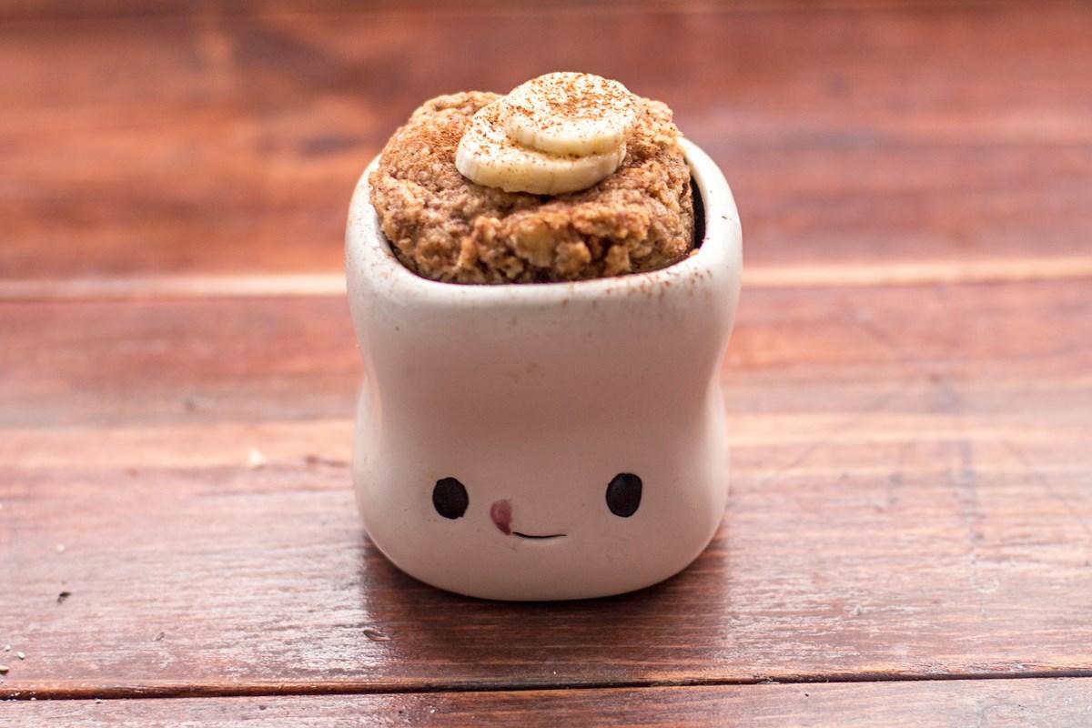 Skinny Microwave Banana Mug Cake - KitchMe