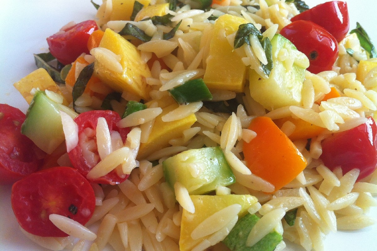 Vegetarian Lime Orzo - KitchMe