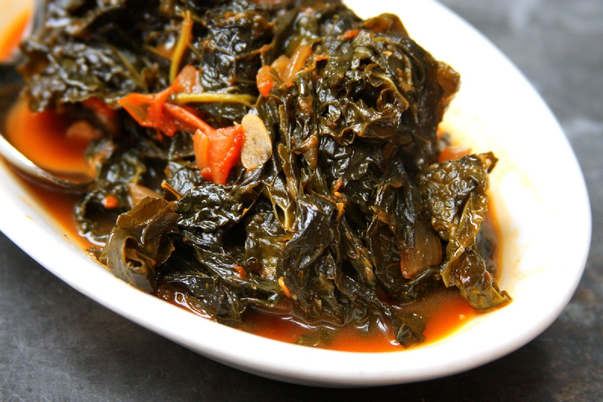 "Vegetarian ""Southern-style"" Collard Greens - KitchMe"