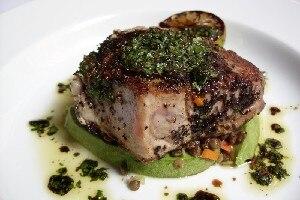 recipe: pan seared tuna with wasabi sauce [10]