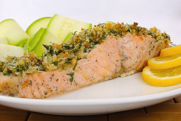 Alaska Salmon Bake with Pecan Crunch Coating | KitchMe