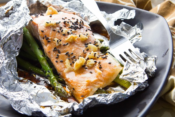 Asparagus And Salmon Foil Packets Kitchme