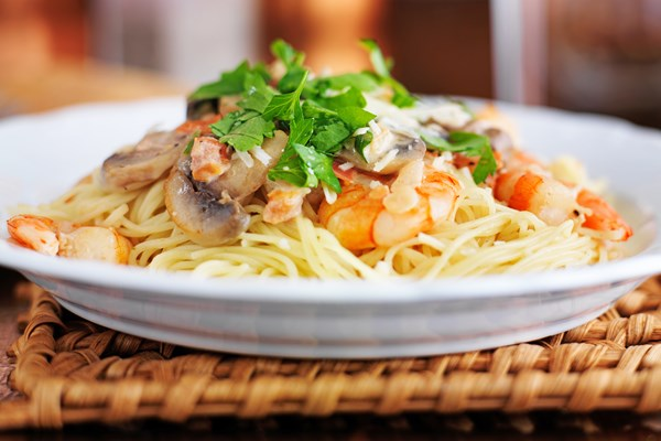 Champagne Shrimp And Pasta Kitchme