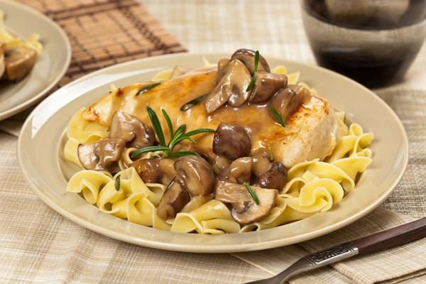 Chicken With Mustard Mascarpone Marsala Sauce Mushrooms
