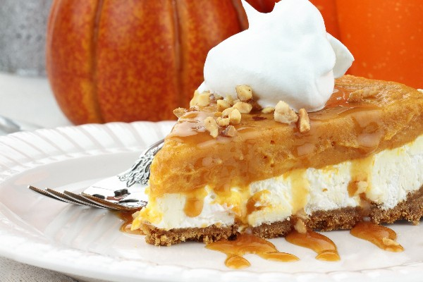 Double Layer Pumpkin Cheesecake | KitchMe