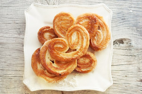 French Palmiers Puff Pastry Cookies Kitchme