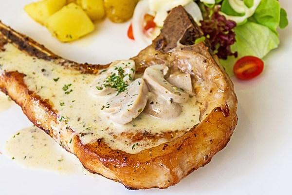 Gravy Baked Pork Chops With Mushrooms