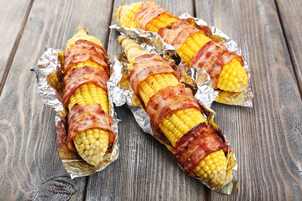 Grilled Bacon Wrapped Corn on the Cob | KitchMe