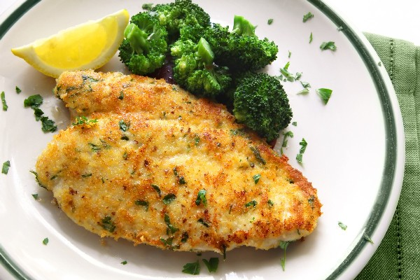Honey-Brined Fried Chicken Breasts  Kitchme-3429