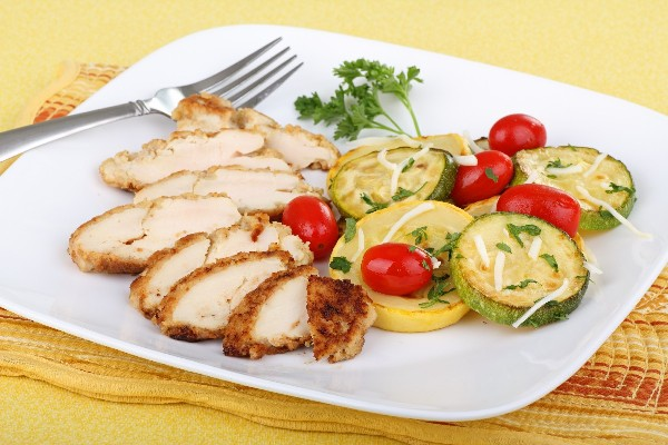 Lemon Rosemary Chicken With Zucchini And Cherry Tomatoes Kitchme