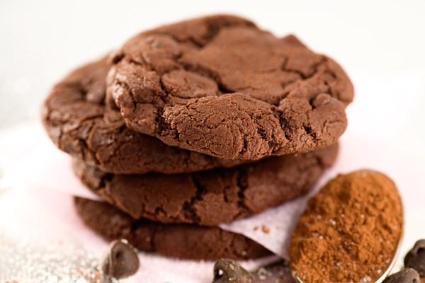 Low fat chocolate cookie