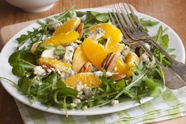 Orange, Red Onion, Gorgonzola And Arugula Salad Recipes — Dishmaps