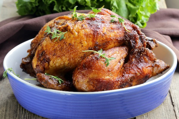 Roast Sticky Chicken Rotisserie Style | KitchMe