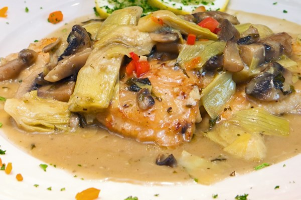 Skillet Chicken With Mushrooms And Artichokes Kitchme
