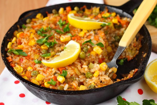 Skinny Beef Taco Rice Skillet (Weight Watchers)