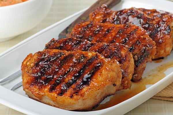 Skinny Grilled Brown Sugar Pork Chops   KitchMe