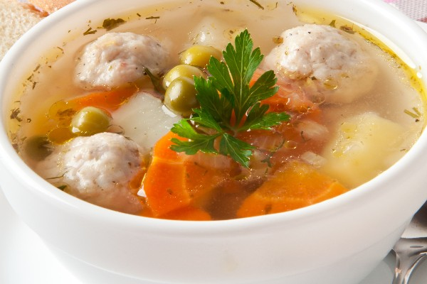 Turkey Vegetable Soup with Stuffing Dumplings | KitchMe