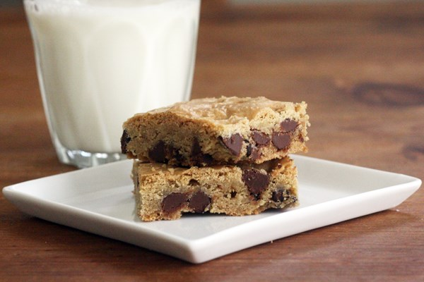 Chocolate Chip Cake Mix Cookie Bars Weight Watchers