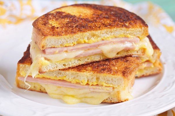how to make grilled ham and cheese