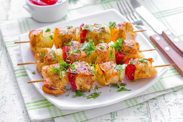 Yummy Honey Chicken Kabobs | KitchMe