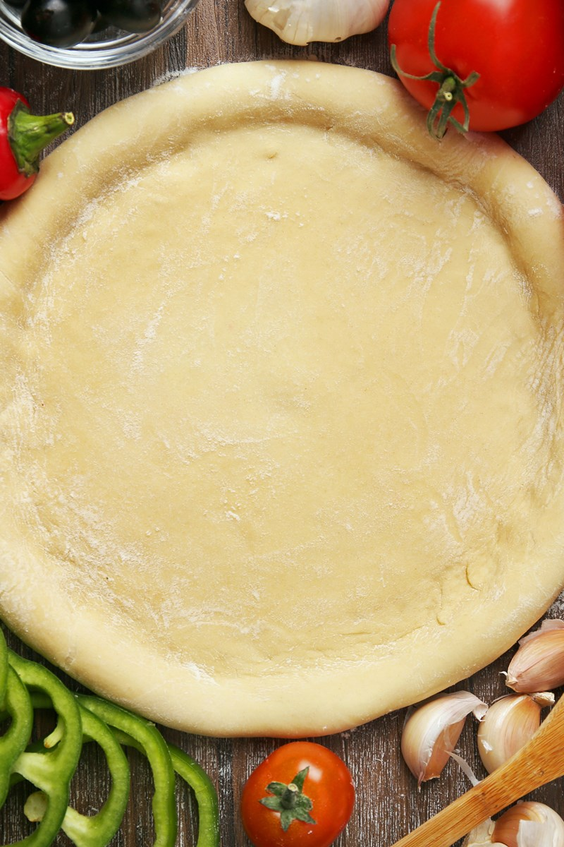 5 Minute Low Fat Pizza Crust Kitchme