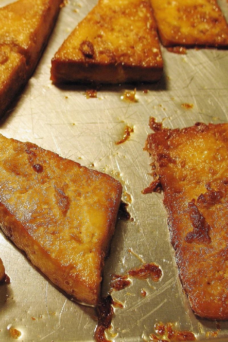 Breaded, Fried, Softly Spiced Tofu Recipe — Dishmaps