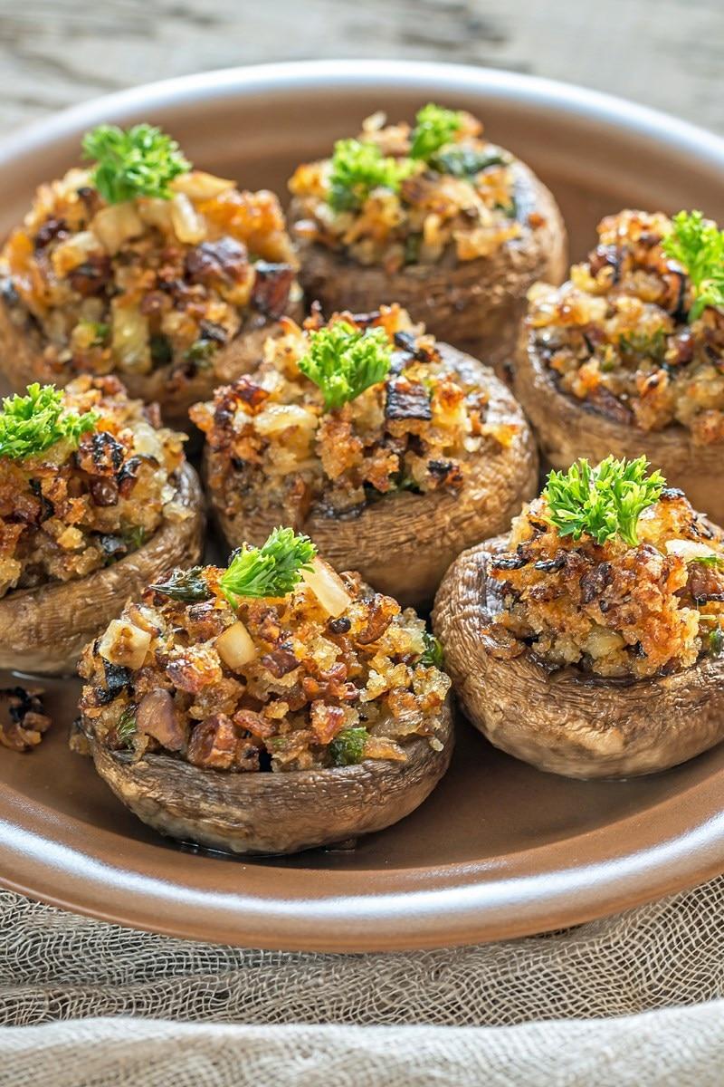 Copycat Olive Garden Stuffed Mushrooms | KitchMe