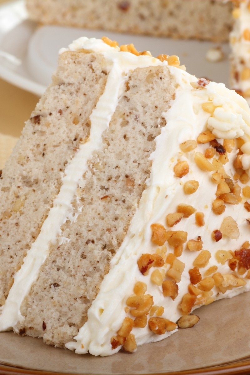 Banana Walnut Butter Cake Recipe