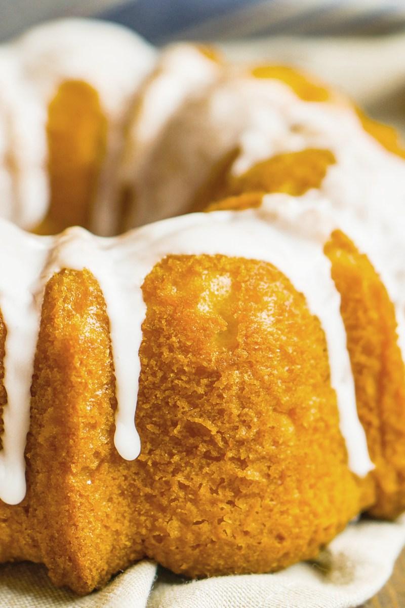 Butterscotch Banana Bundt Cake