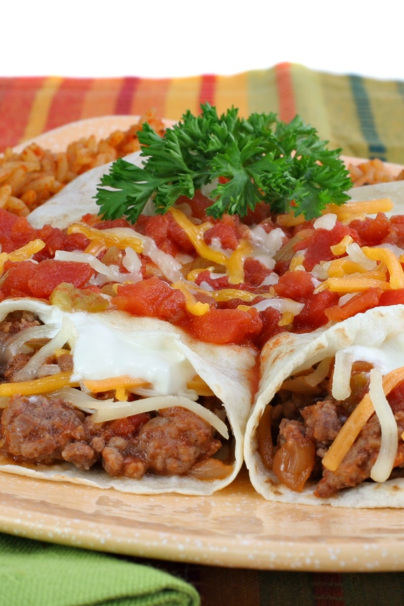Image result for beef and bean burritos