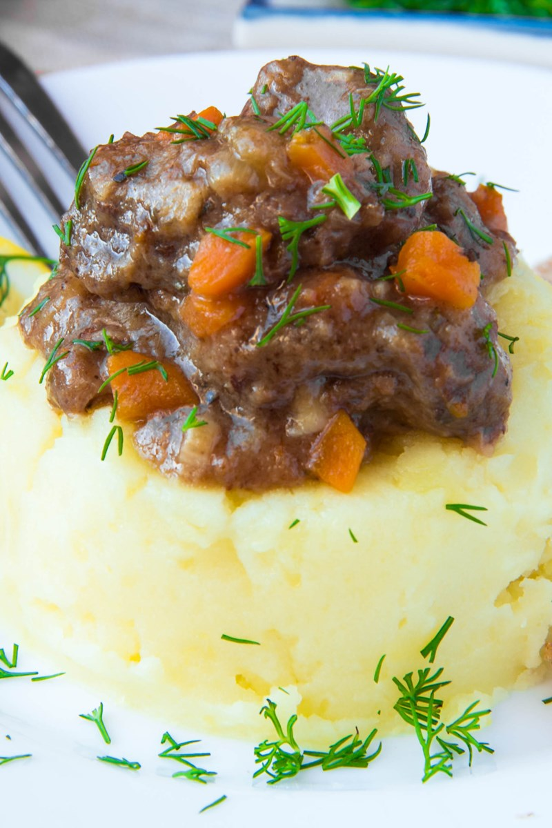 Beer Braised Irish Beef Stew and Colcannon | KitchMe