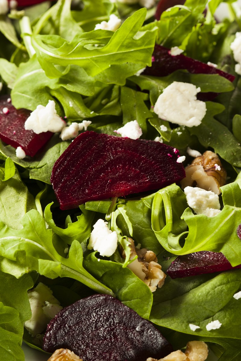 Beet and Goat Cheese Arugula Salad | KitchMe