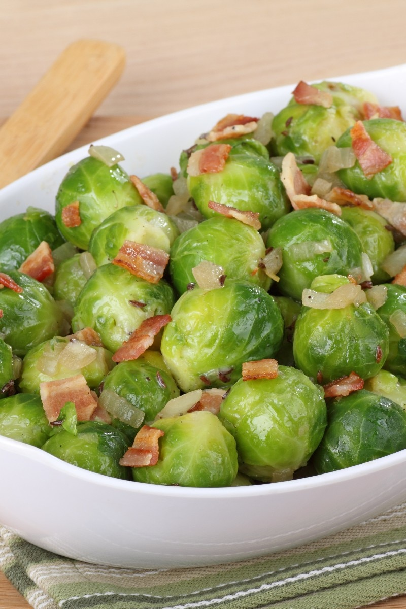 Brussels Sprouts With Bacon Recipe — Dishmaps