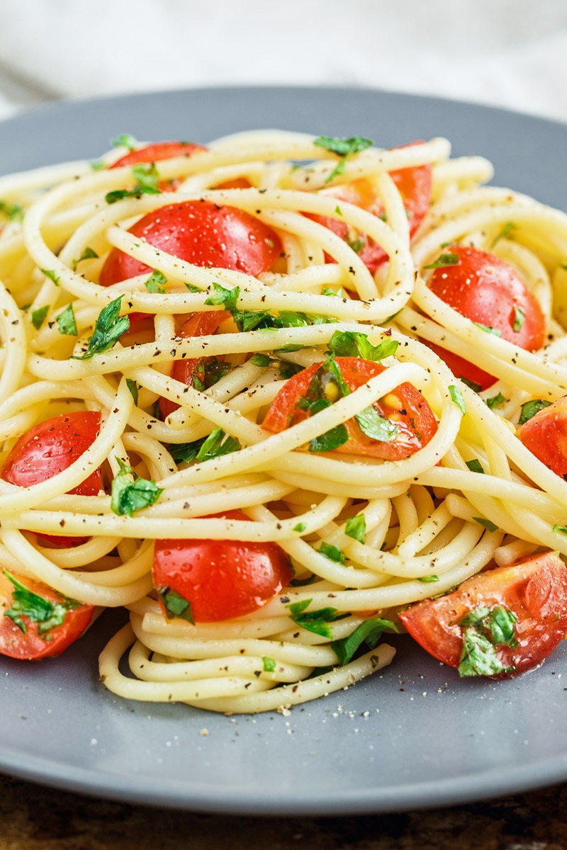 tomato basil pasta cherry tomato basil and garlic pasta kitchme 11959